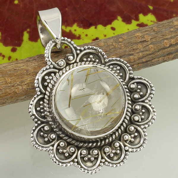Ethnic Pendant 925 Solid Sterling Silver Designer Jewelry Classic Art Tribal